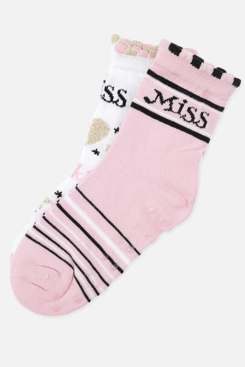 Купить 120224009, Носки (2 пары) для девочек PlayToday, цв. розовый р.16, Play Today, Носки для девочек