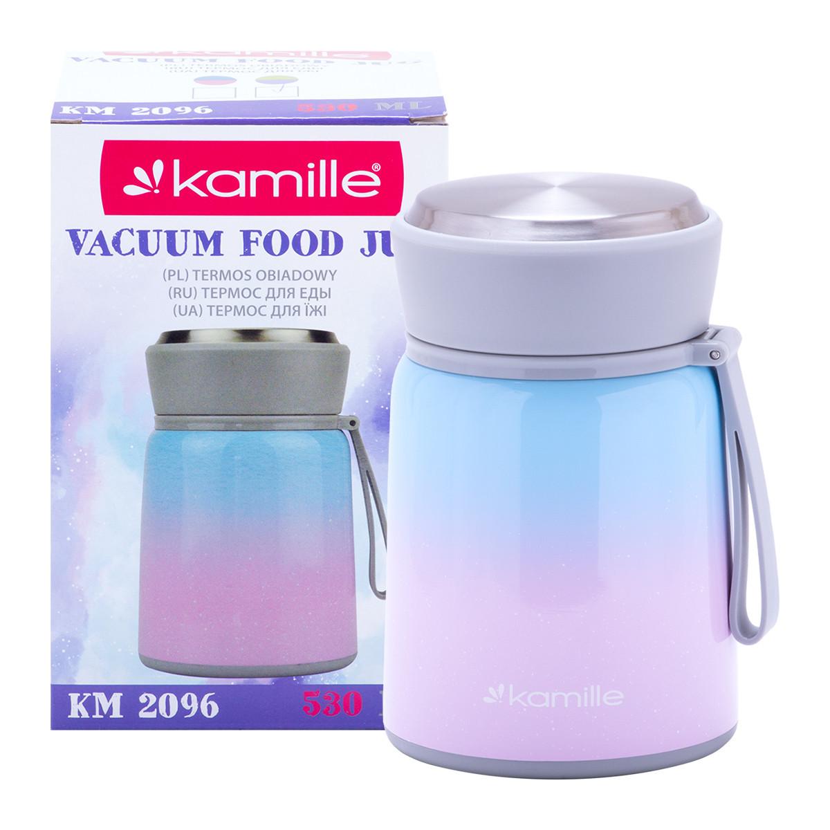 Фото - Термос пищевой Kamille 530мл. из нержавеющей стали