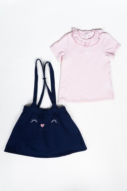 Комплект (джемпер, юбка) для девочек Artie, цв. розовый р.74 Artie   фото