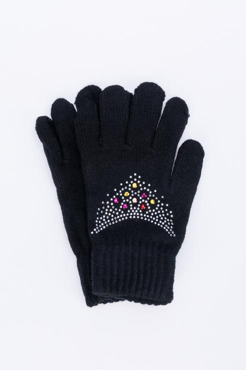 Перчатки для девочек Мария, цв. черный р.13