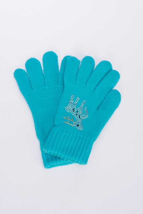 Перчатки для девочек Мария, цв. голубой р.13
