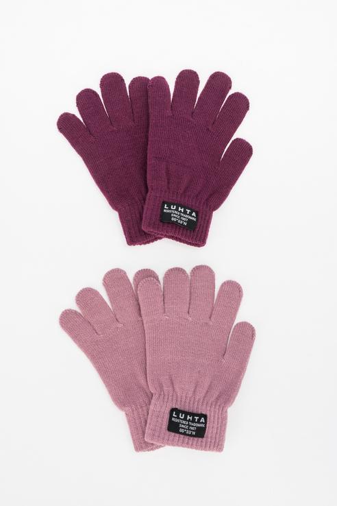 Комплект перчаток (2 пары) для мальчиков Luhta,