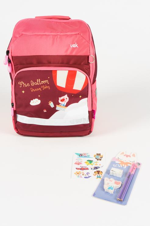 Рюкзак школьный для девочек Uek.kids, цв. розовый