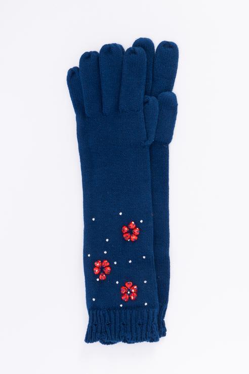 Перчатки для девочек Boboli, цв. синий р.XL