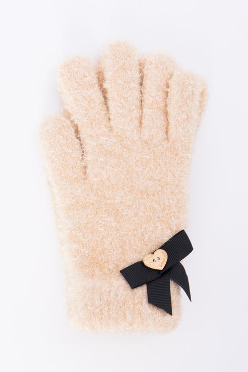 Перчатки для девочек Boboli, цв. бежевый р.L