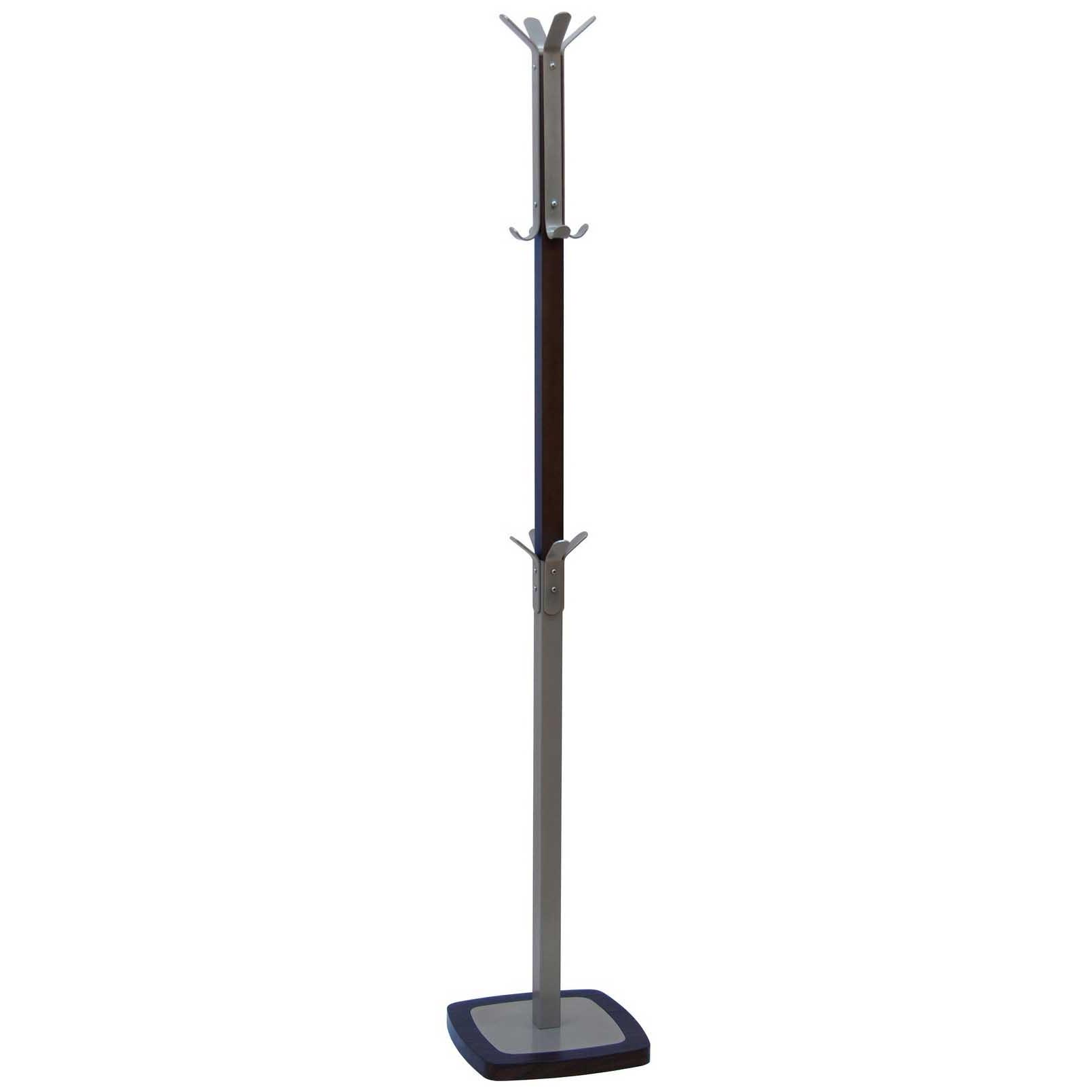 Вешалка напольная Мебелик Босс 1 Металлик/Темно коричневый