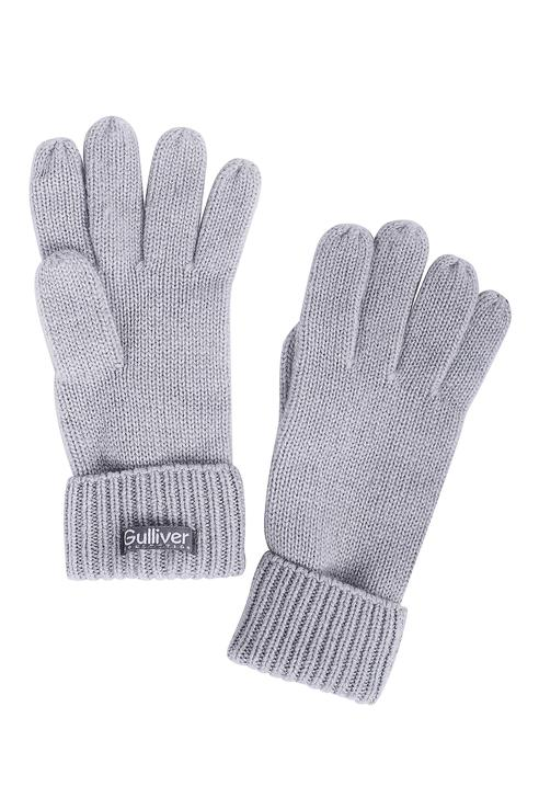 Перчатки для девочек Gulliver, цв. серый р.18