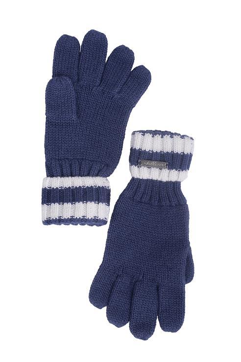 Перчатки для девочек Gulliver, цв. синий р.12