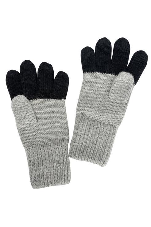 Перчатки для мальчиков Gulliver, цв. серый р.12
