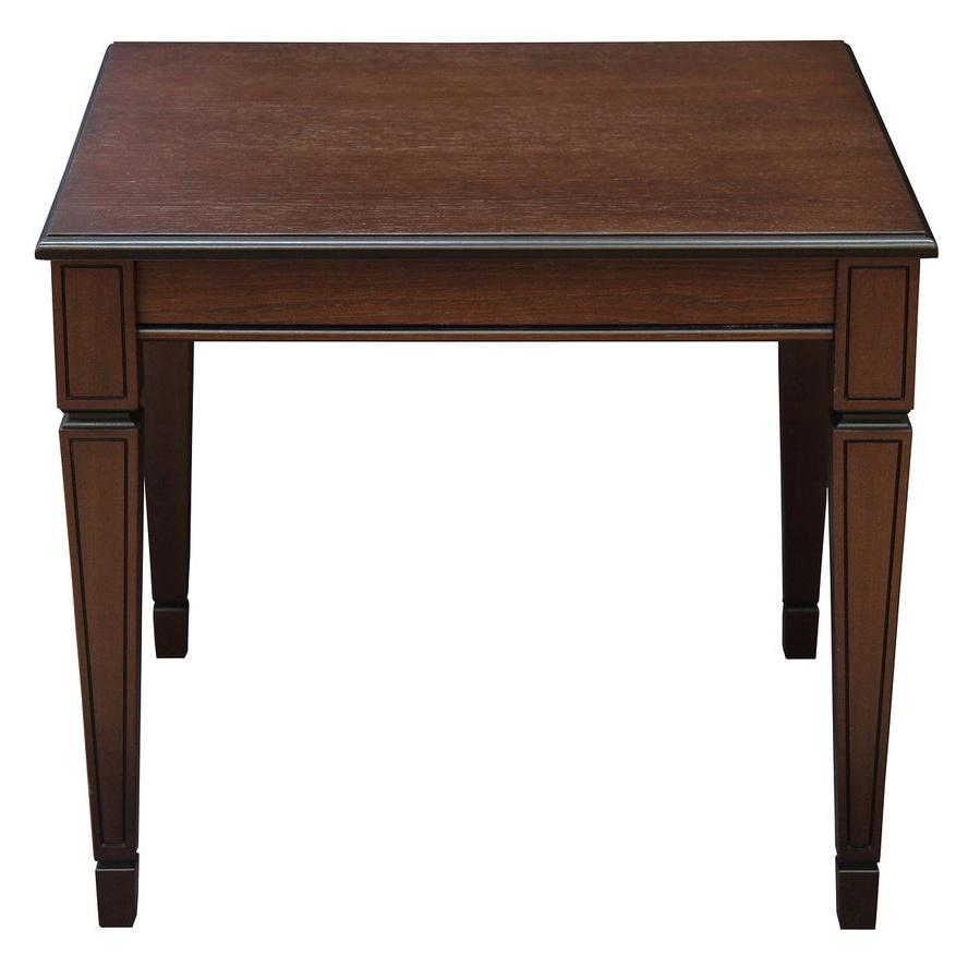 Журнальный столик Мебелик Васко В 82 В 82 60х60х52 см, тёмно-коричневый/патина