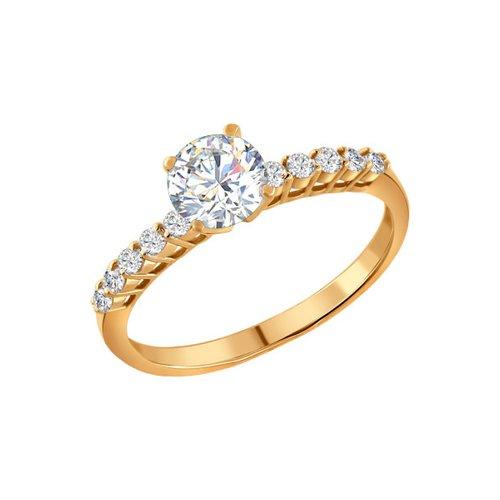 Помолвочное кольцо женское SOKOLOV из серебра с фианитами 93010036 р.18
