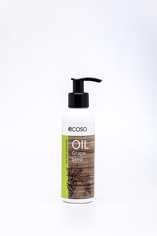 Масло для тела ECOSO Натуральное масло виноградной косточки