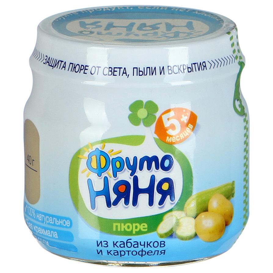 Пюре овощное ФрутоНяня Из кабачков и картофеля