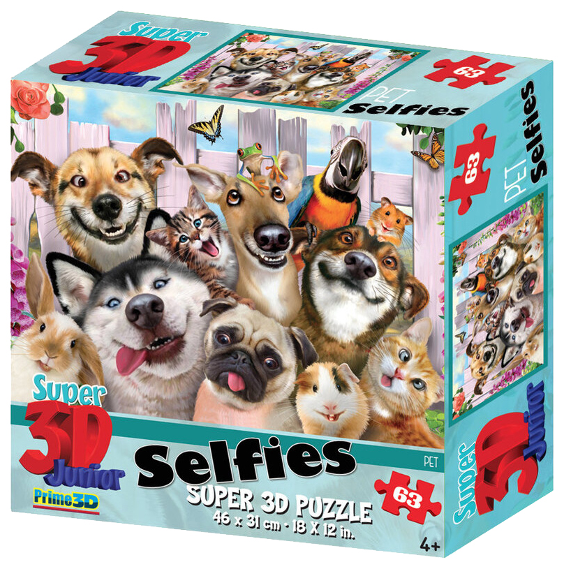 Купить Стерео пазл PRIME 3D 10814 Селфи домашних питомцев 2, 3D пазлы
