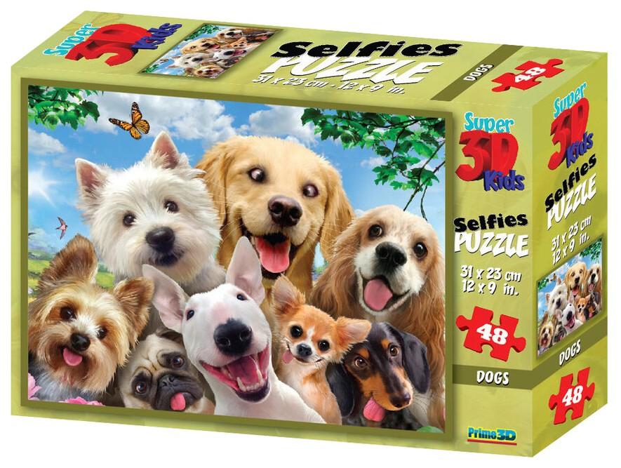 Купить Стерео пазл PRIME 3D 10539 Собаки селфи 2, 3D пазлы
