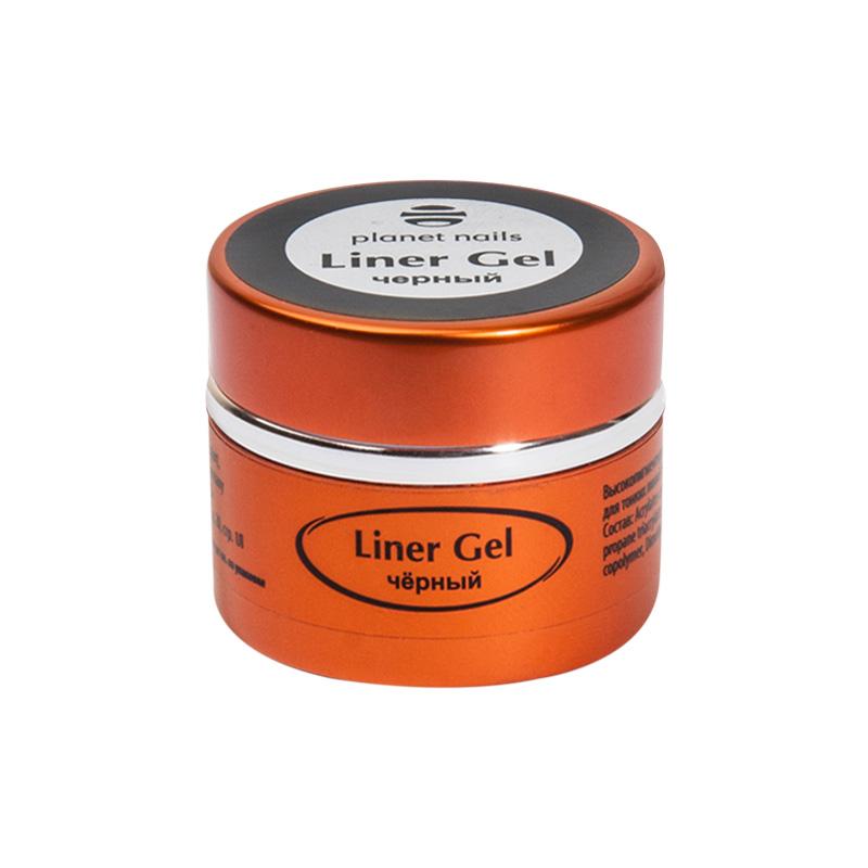 Купить Гель-краска Planet Nails 11838 для тонких линий - Liner Gel черная 5г