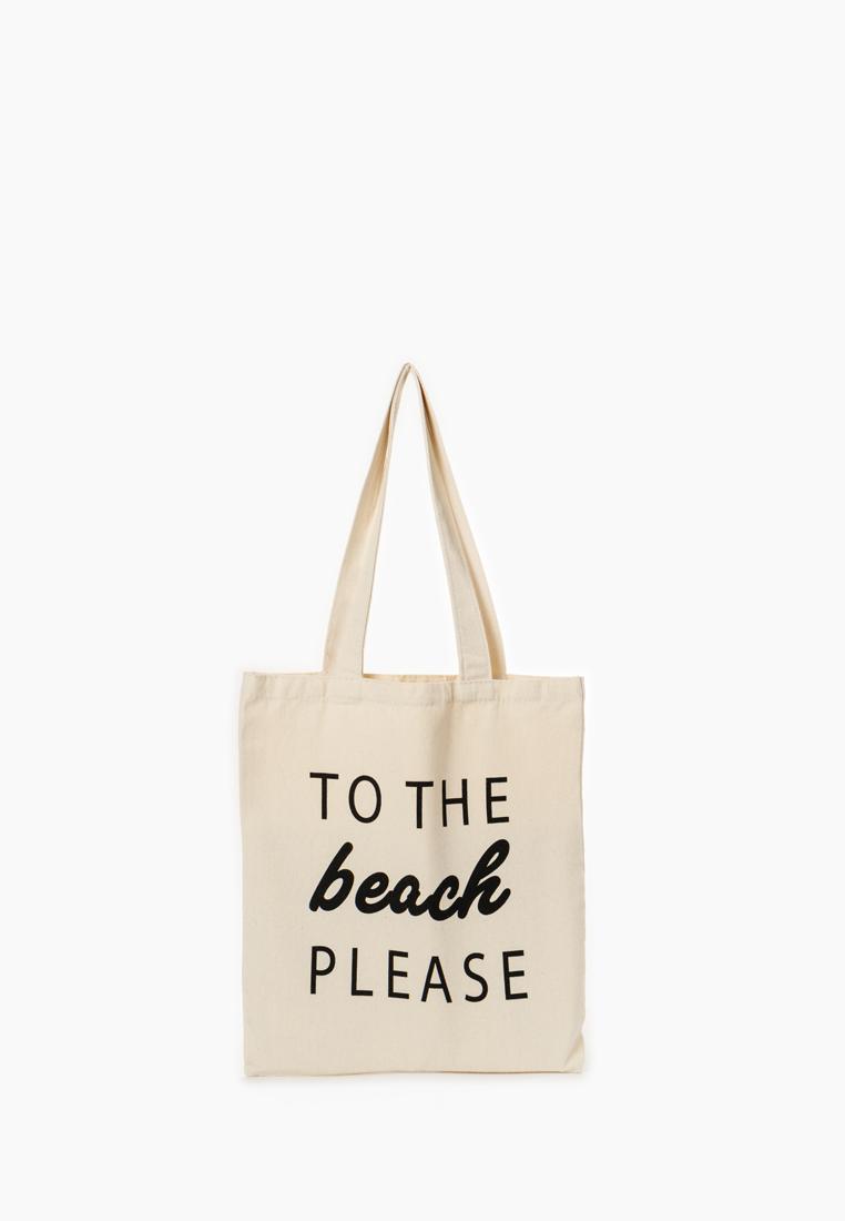 Пляжная сумка женская Modis M201A00725C003ONE бежевая