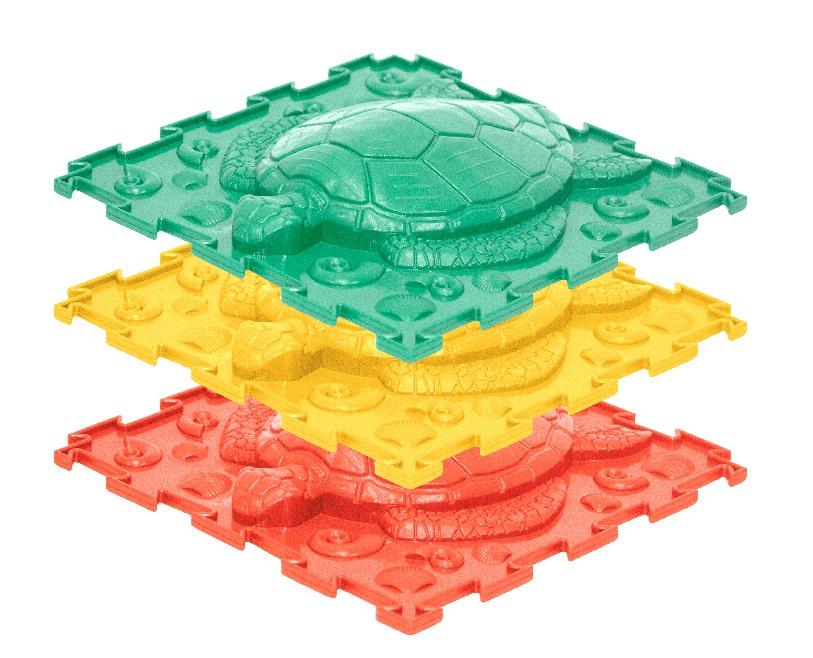 Купить Черепашка (жесткий), Модульный коврик Ортодон Черепашка жесткий, 3 детали 25x25 см,