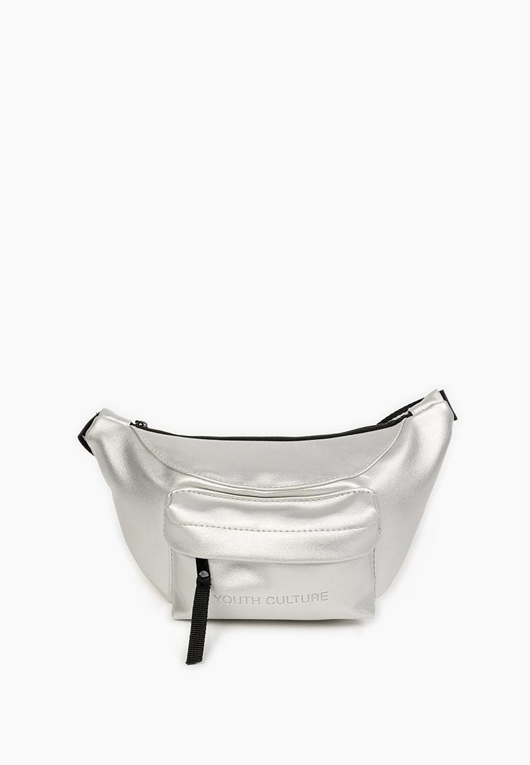 Поясная сумка женская Modis M201A00081Y056ONE серебристая