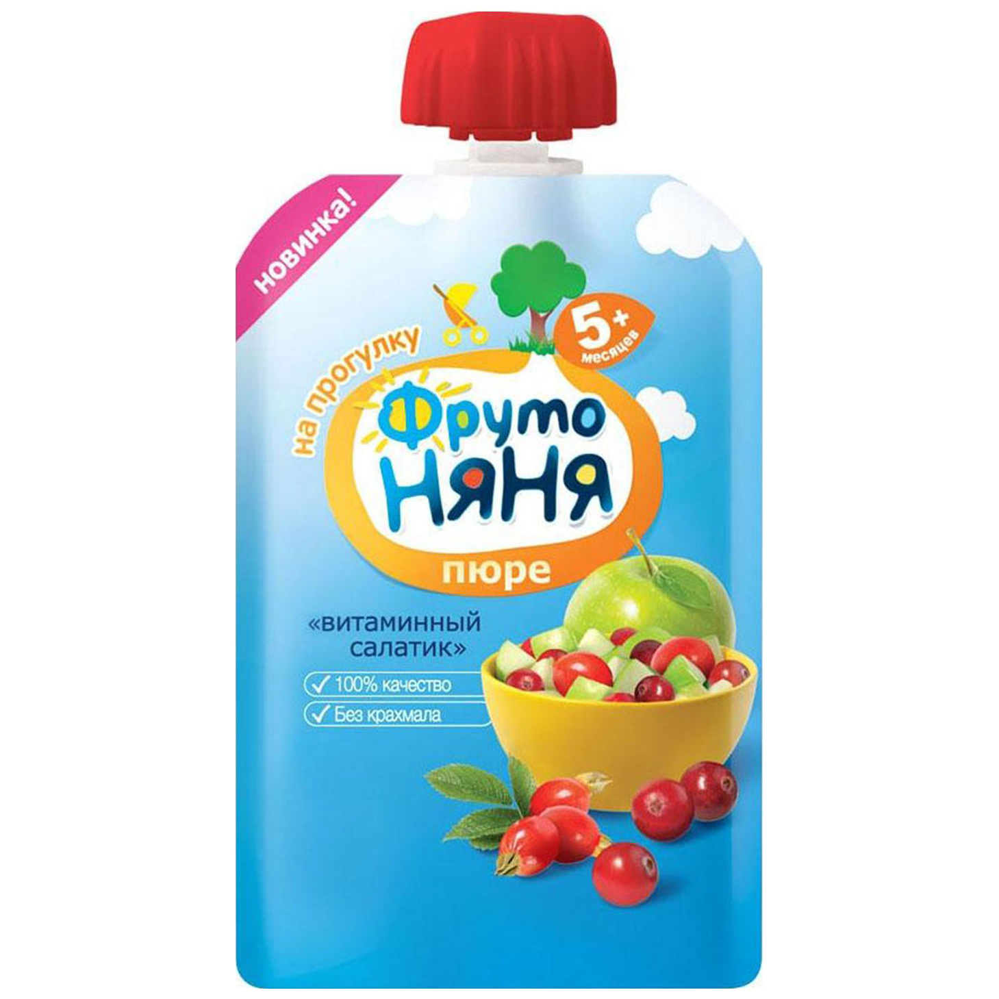 Пюре фруктовое ФрутоНяня Витаминный салатик с