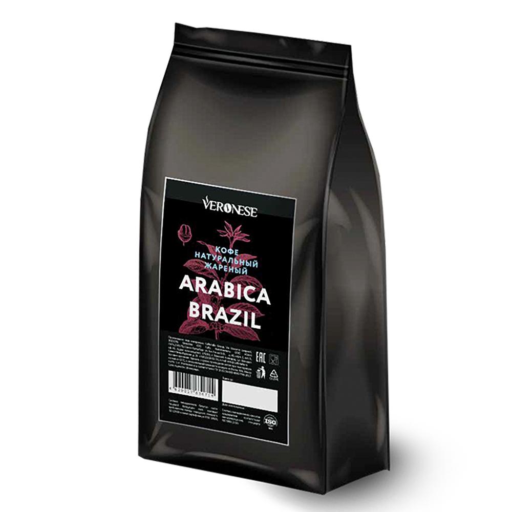 Кофе в зернах Veronese Arabica Brazil 50% арабика 50% робуста 1000 г