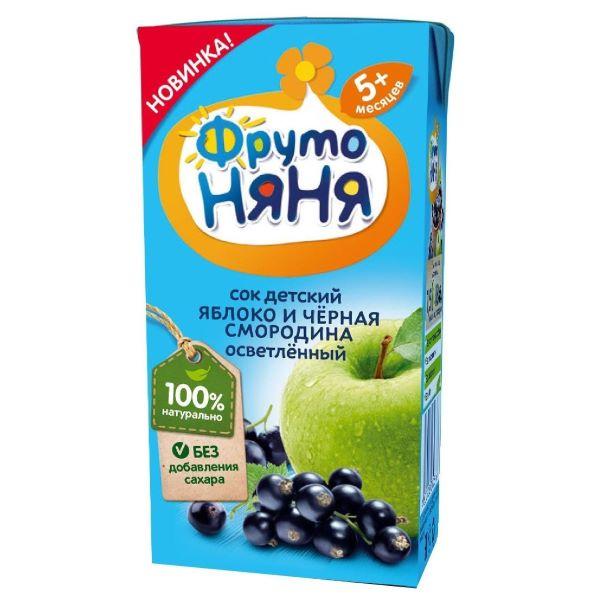 Сок Фрутоняня яблоко, черная смородина 200мл