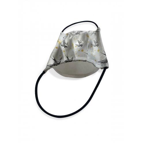 Защитная маска для лица двухслойная с фильтром