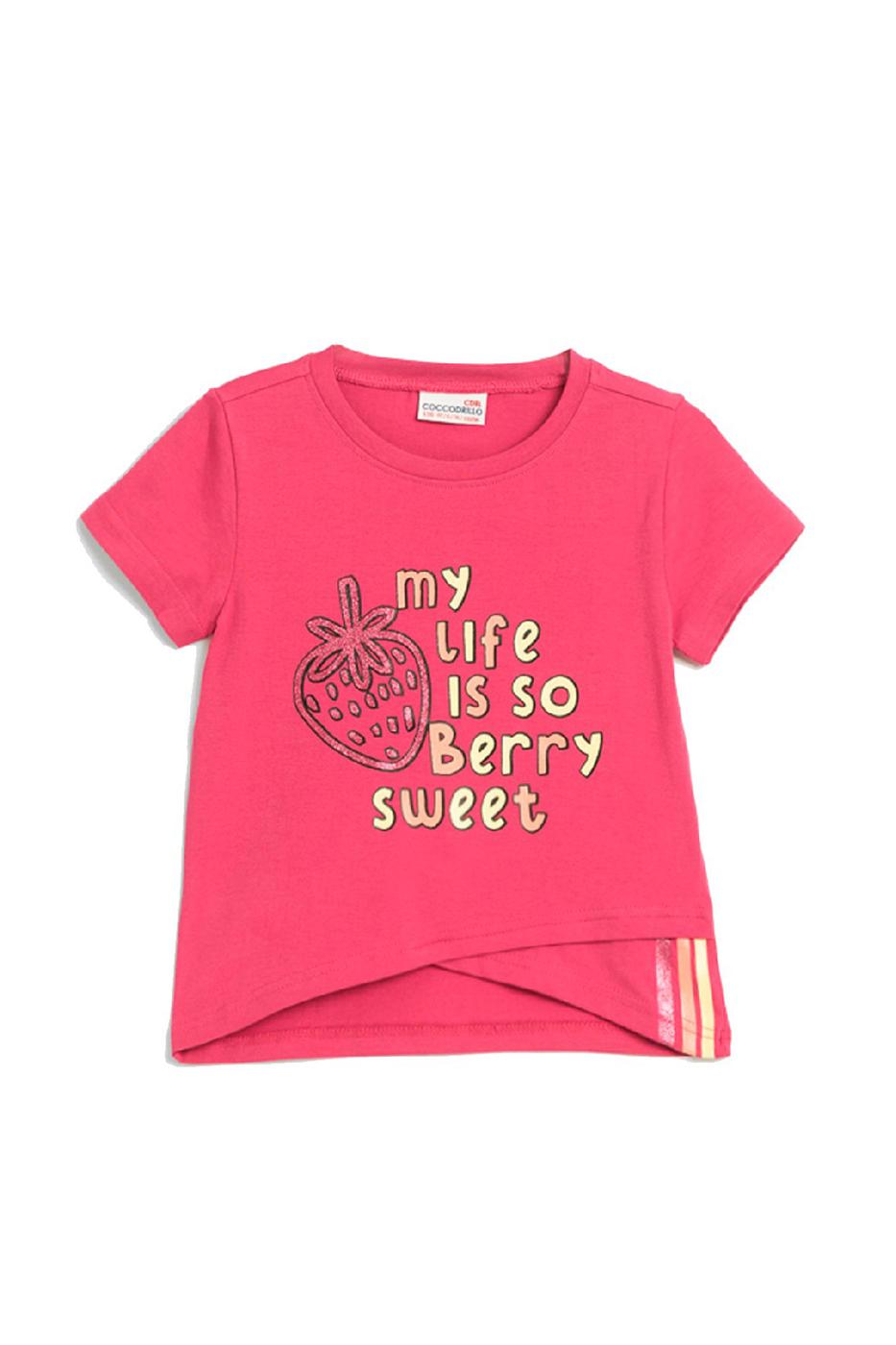 Купить W20143201BES, Футболка для девочки COCCODRILLO цв.розовый р.116, Футболки для девочек