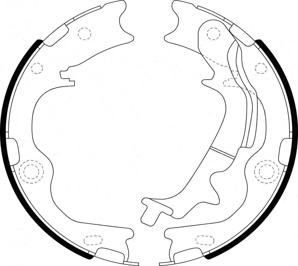 Тормозные колодки барабанные  Ford 1511233
