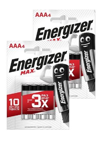 Батарейка Energizer MAX E92/AAA 4шт (2 упаковки)