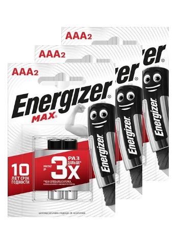 Батарейка Energizer MAX E92/AAA 2шт (2 упаковки)