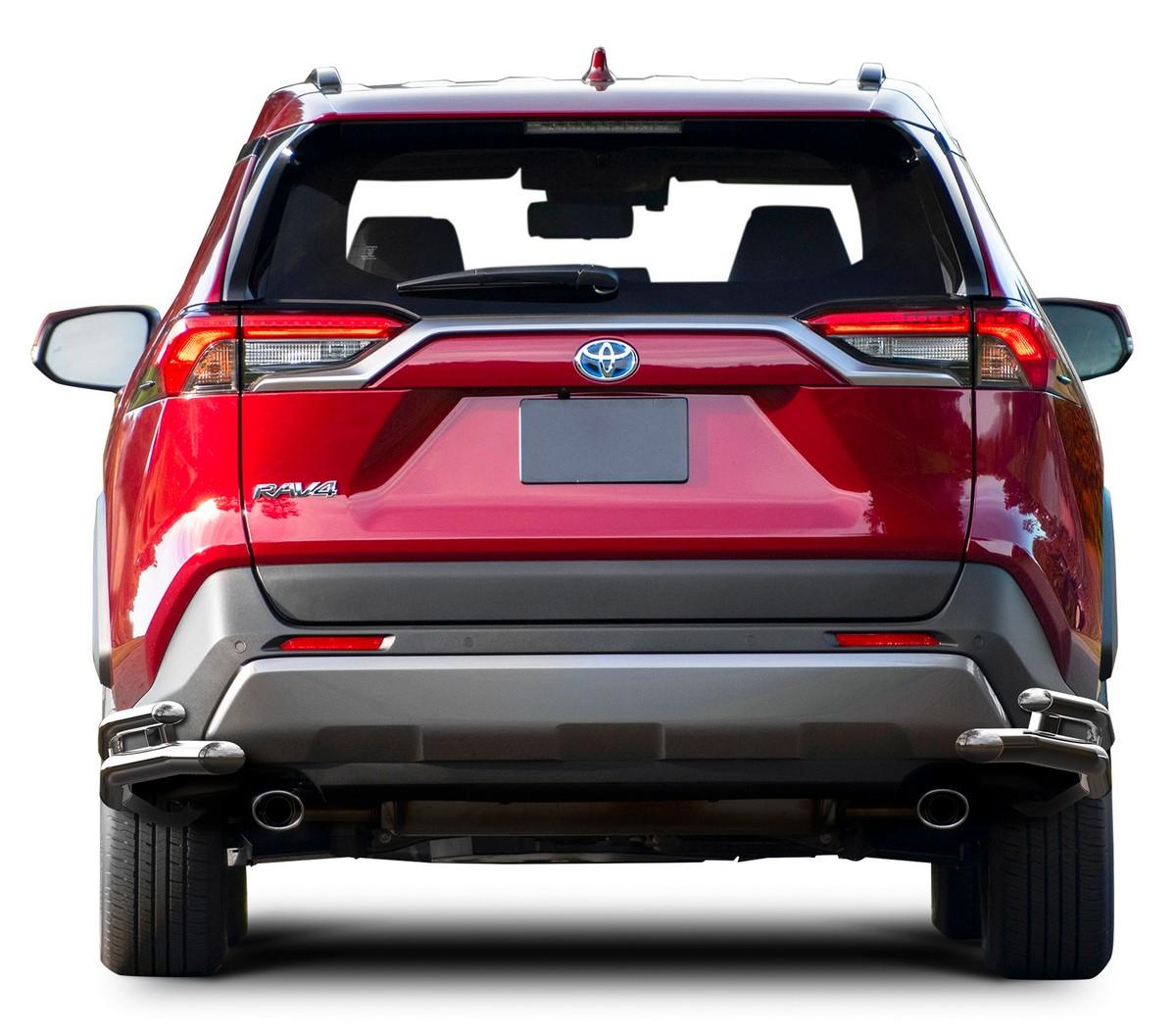 Защита заднего бампера d57+d42 уголки Rival Toyota Rav4 V XA50, 2 части, R.5725.007