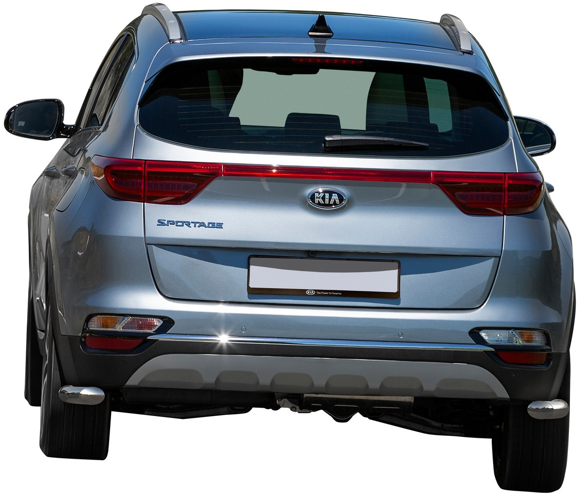 Защита заднего бампера d42 уголки Rival Hyundai
