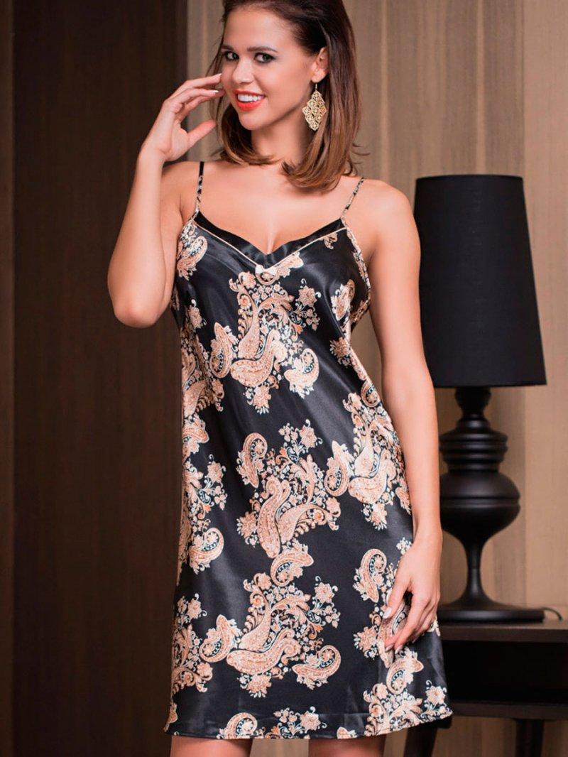 Ночная сорочка женская Mia-Mia 3301 Mia-Amore черная 3XL фото
