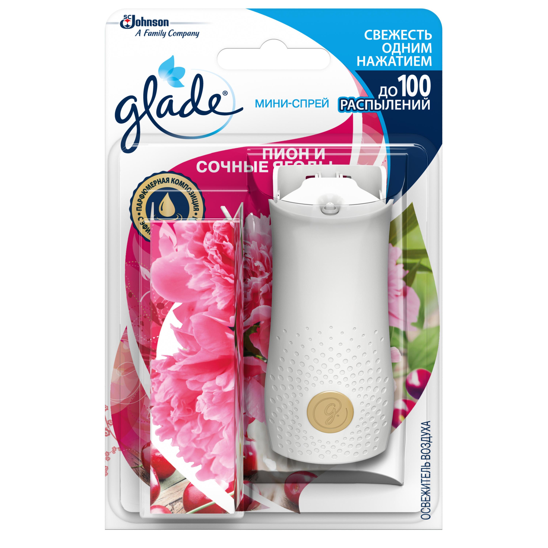 Освежитель воздуха Glade мини-спрей пион и сочные ягоды 10 мл