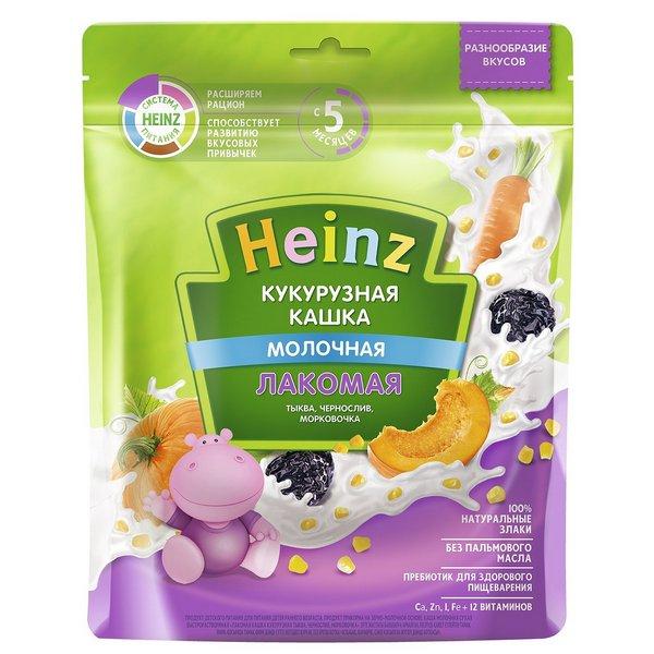 Каша молочная Heinz Кукурузная тыква, чернослив, морковочка с 5 мес. 170 г