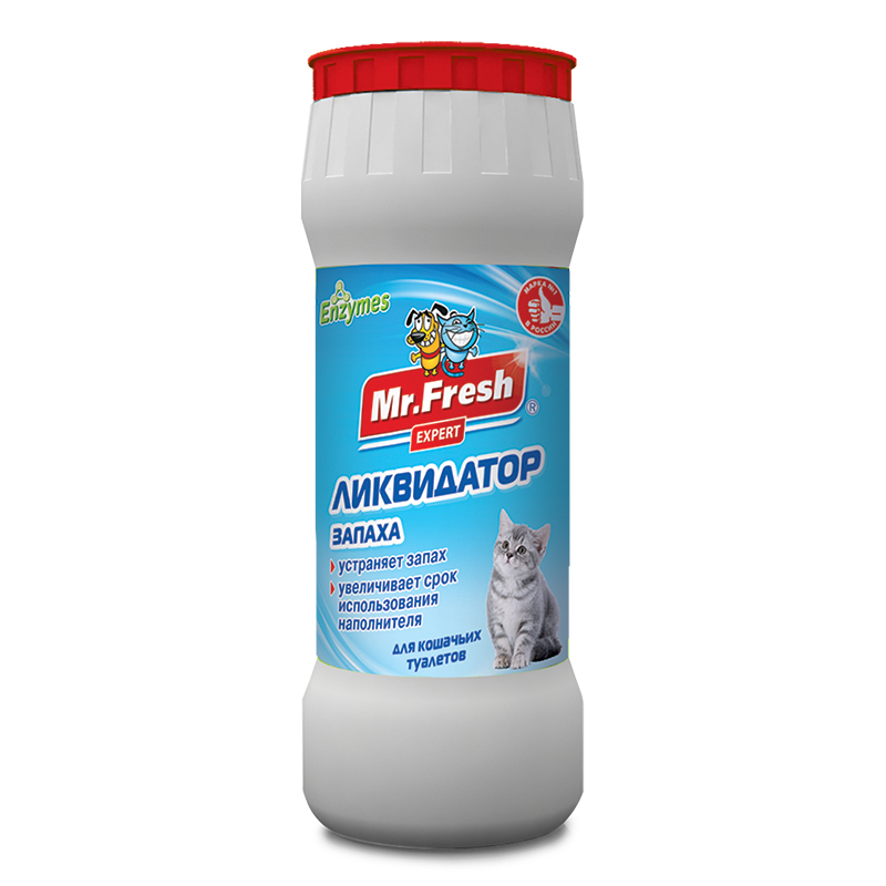Ликвидатор запаха для кошачьих туалетов Mr.Fresh Expert