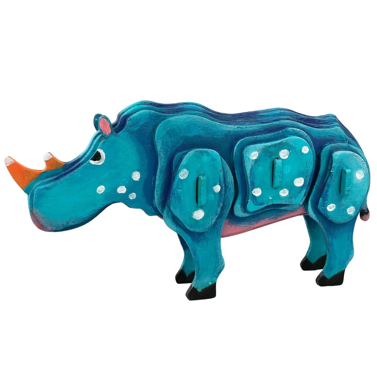 3Д пазл раскраска ТМ Цветной Носорог