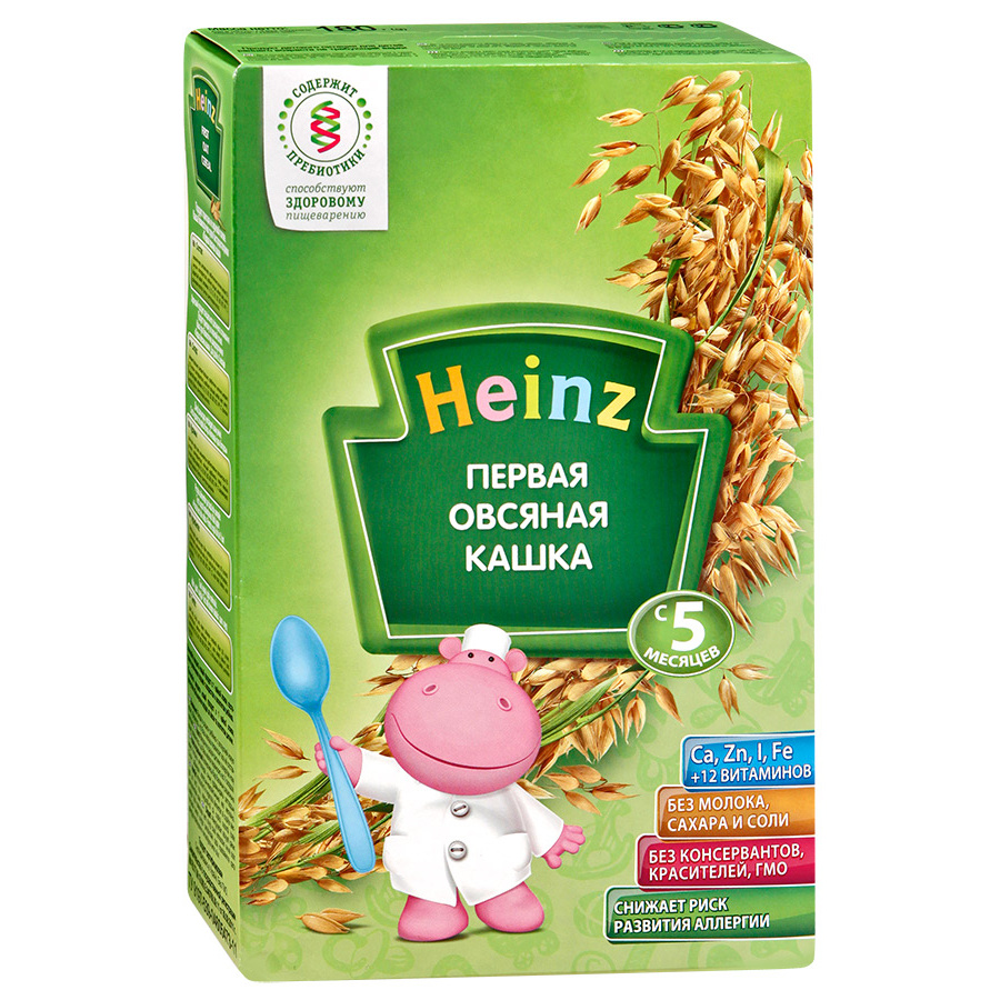 Каша безмолочная Heinz Овсяная с 5 мес.