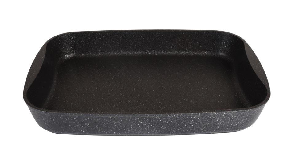 Противень  литой 40х29,5х5см Темный мрамор