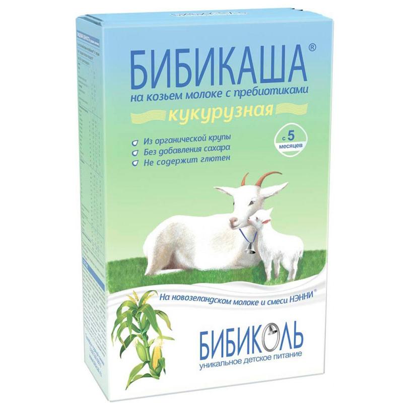 Каша молочная Бибиколь Кукурузная на козьем молоке с 5 мес. 200 г,  - купить со скидкой