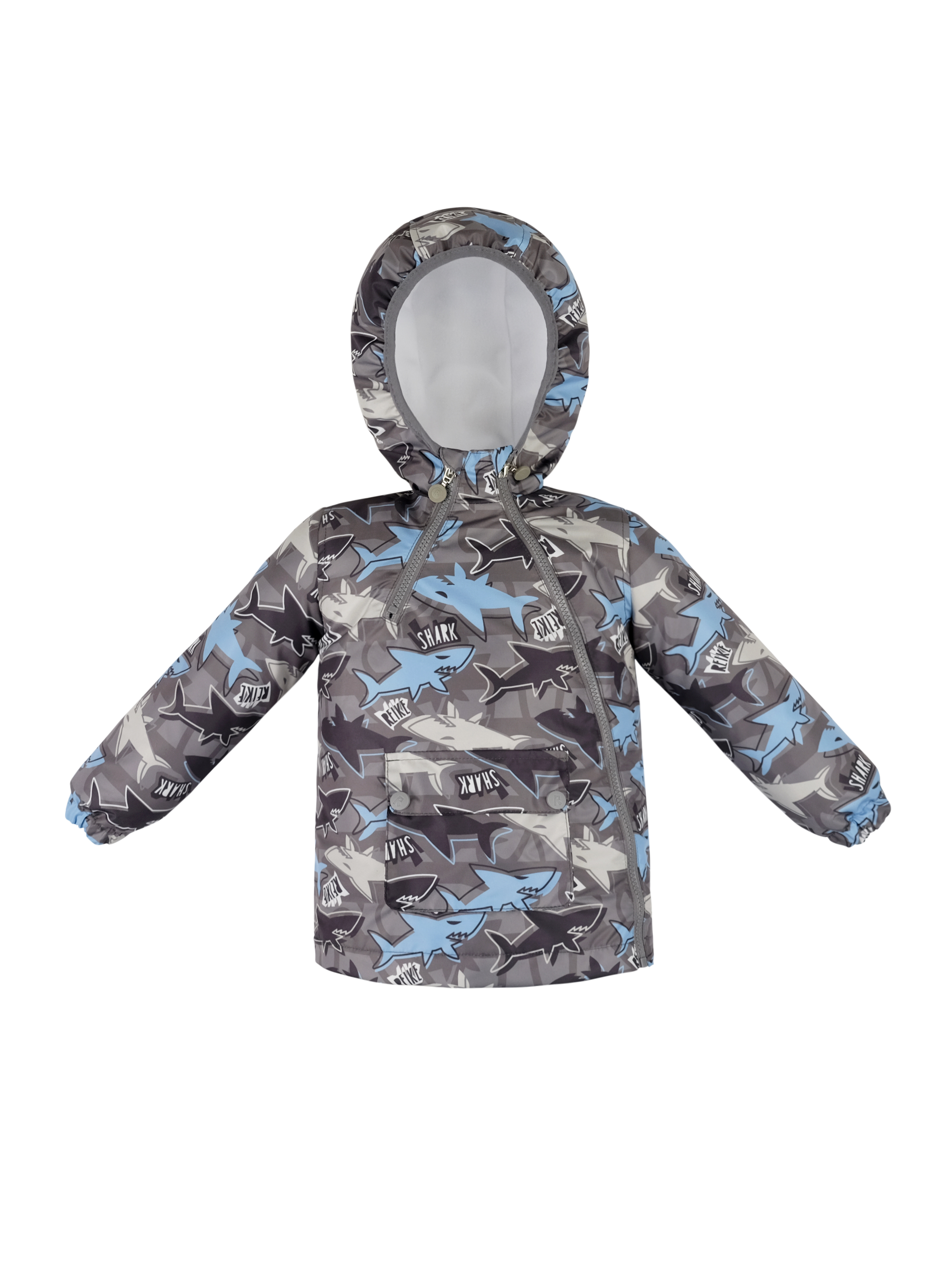 Куртка детская Reike Small sharks grey р.80