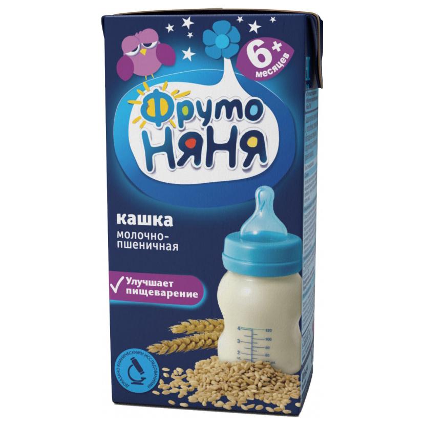 Каша молочная ФрутоНяня Пшеничная с 6 мес.