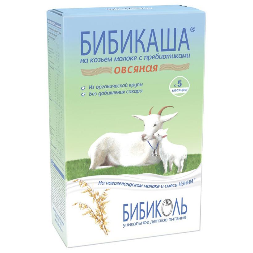 Купить Каша молочная Бибиколь Овсяная на козьем молоке с 5 мес. 200 г,