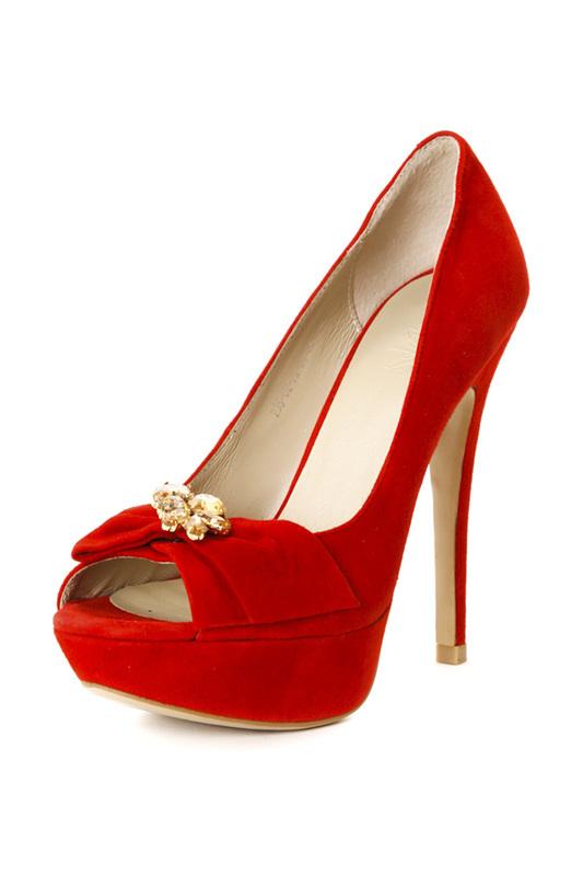Туфли женские Calipso 235-02-FX красные 38 RU фото