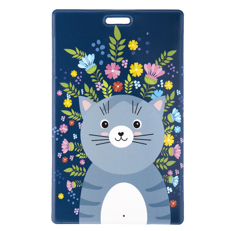 Чехол для магнитной карты котик синий KAWAII FACTORY KW187