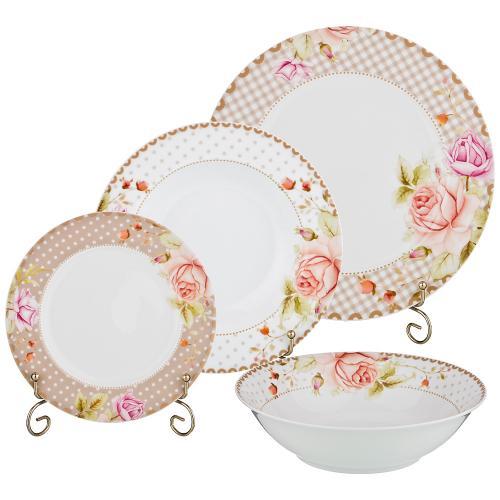 Набор столовой посуды Lefard, 19 предметов, горох