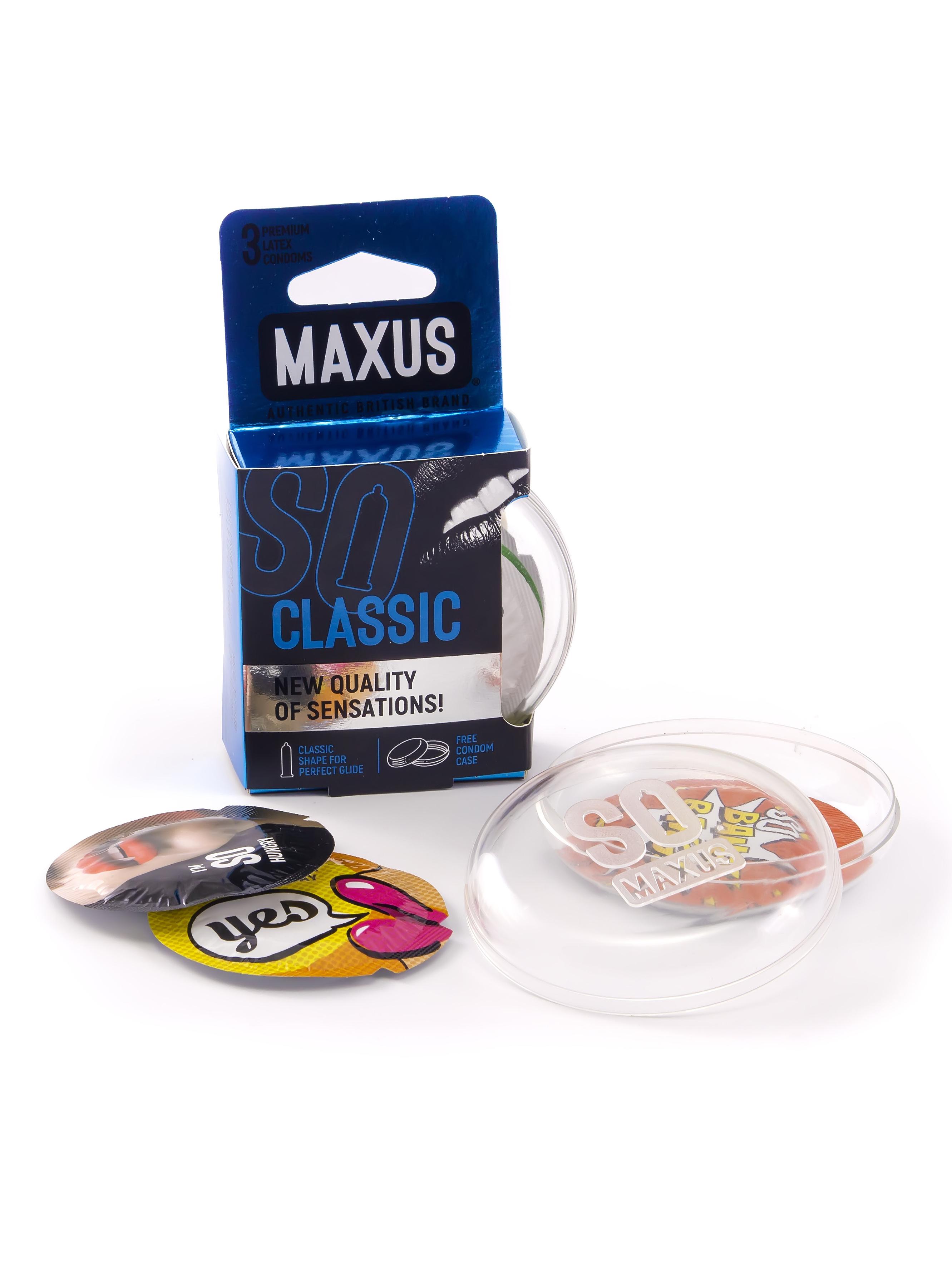 Купить Презервативы классические MAXUS AIR Classic №3 п/к, Презервативы классические MAXUS AIR Classic 3 шт.