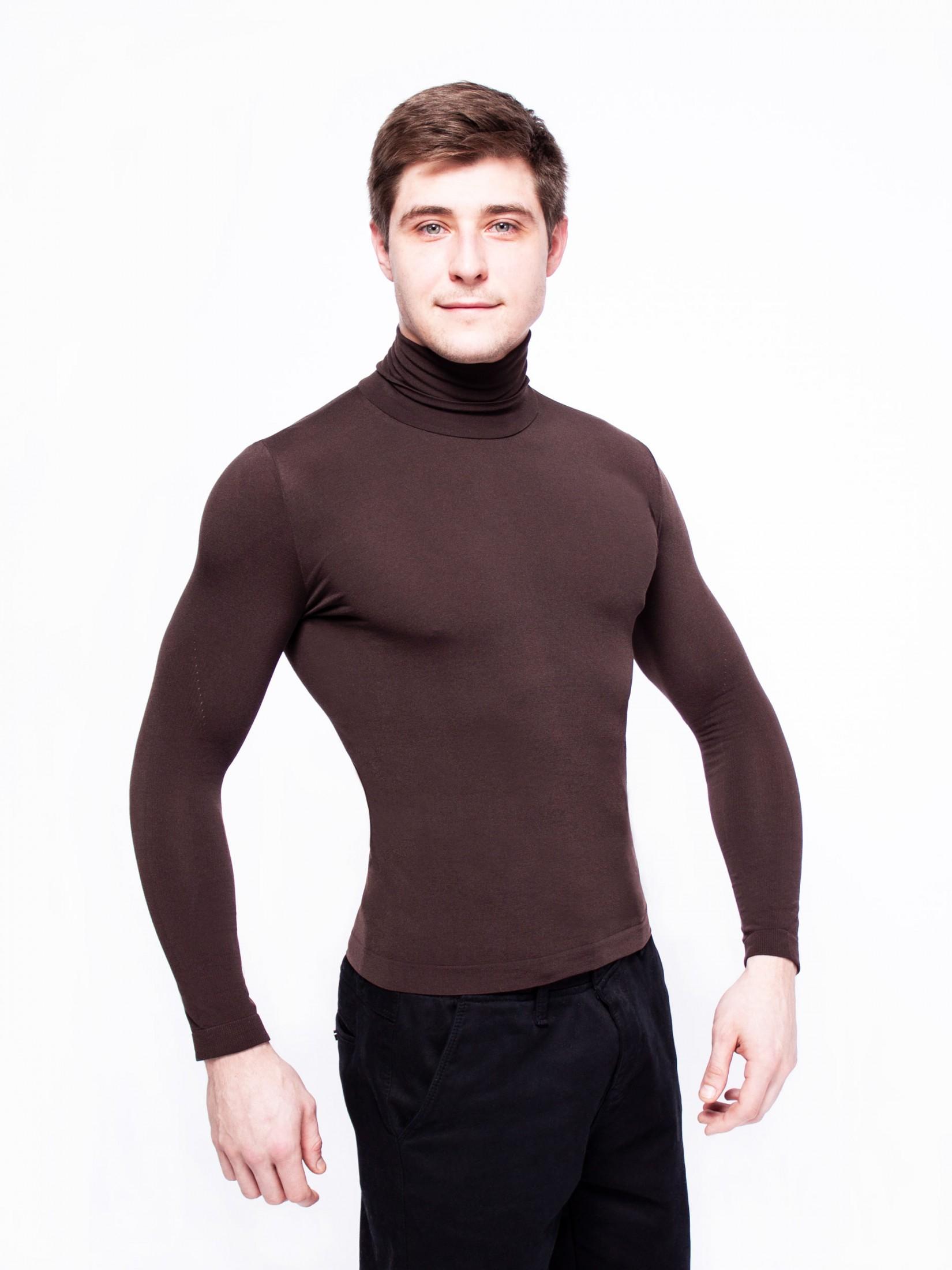 Водолазка мужская LUI Dolcevita Manica Lunga uomo коричневая L