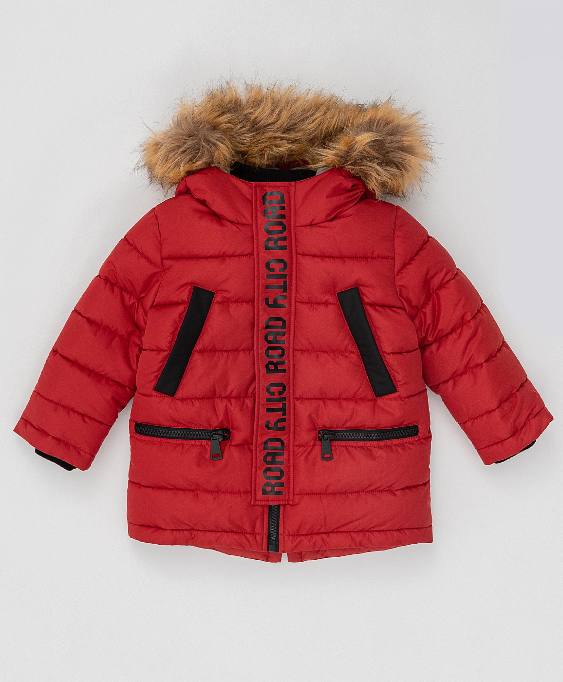Купить Красное зимнее пальто Button Blue 220BBBMC45013500, размер 116,